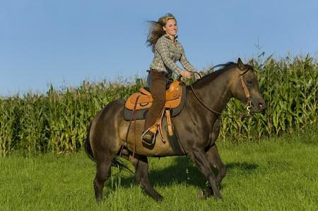 horseback riding: riding