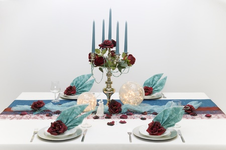 candle holder: place setting Editorial