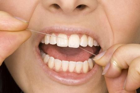 higiene bucal: higiene oral Foto de archivo