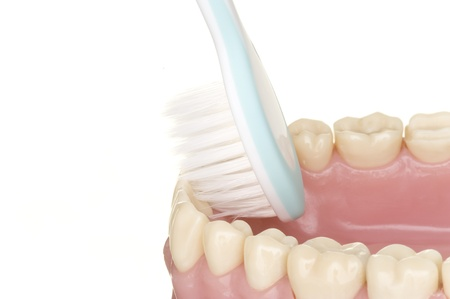 discolorations: oral hygiene Stock Photo