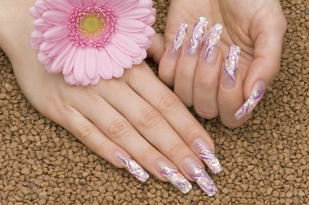 nailart: manicure Stock Photo