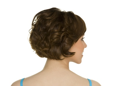nonverbal communication: hairstyle Stock Photo