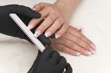 bodypart: manicure Stock Photo