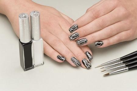 nail bar: manicure Stock Photo