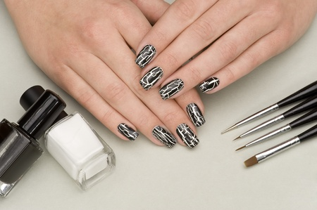 cosmetic lacquer: manicure Stock Photo
