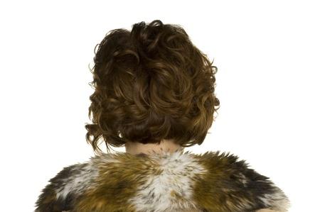 comunicacion no verbal: peinado Foto de archivo