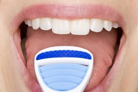 aseo personal: higiene oral Foto de archivo