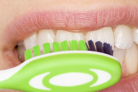 halitosis: oral hygiene Stock Photo