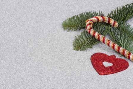 christmas manicure: background Stock Photo