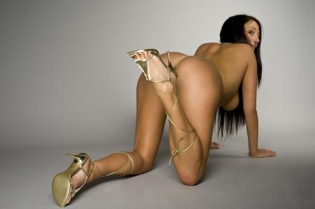 mujer sexy desnuda: er�tico Foto de archivo