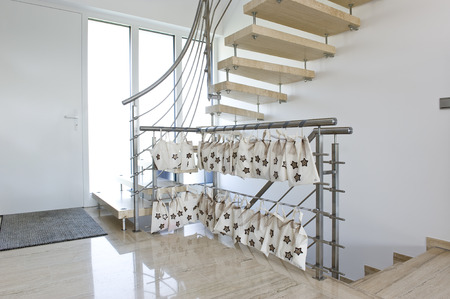 stainless steel handrail wit advent calender photo