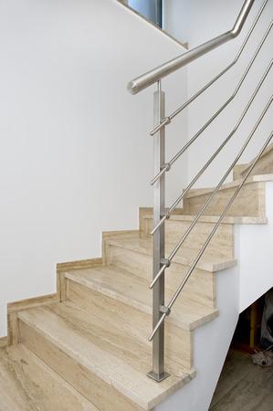 balustrade: stainless steel handrail