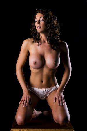 mujer desnuda: erótico Foto de archivo