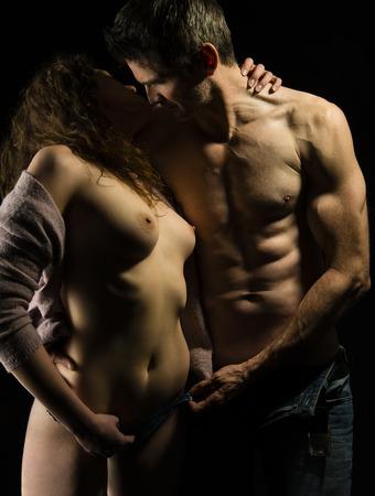 pareja desnuda: er�tico Foto de archivo