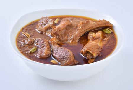 Delicious and Spicy Mutton Korma Foto de archivo