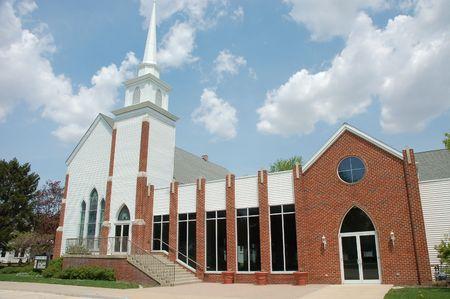 il: United Methodist Church in Manteno, IL Stock Photo