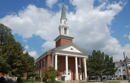 congregational: First Union Congregational Church, Quincy, IL Stock Photo