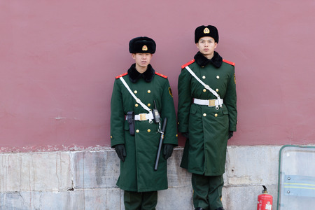 soldiers: Chinese Soldiers Editorial