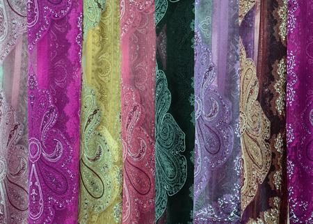 Colrful fabric pattern.