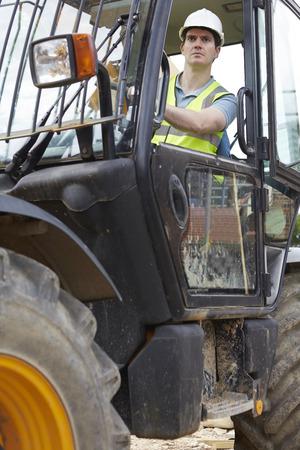 digger: Construction Worker Driving Digger