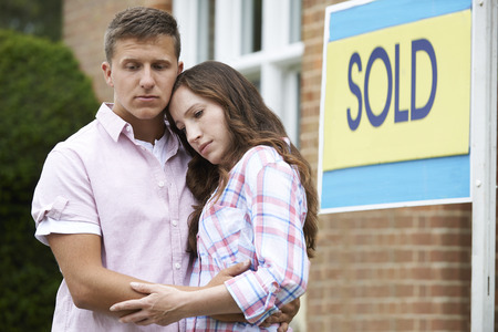 selling house: Young Couple Forced To Sell Home Through Financial Problems