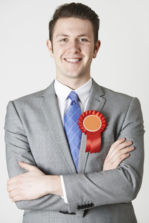 congressman: Portrait Of Labour Politician Against White Background Stock Photo