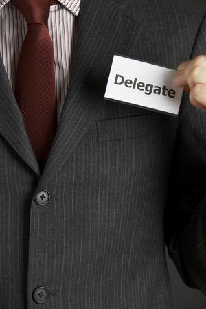 delegar: Empresario Colocaci�n Insignia Delegado Para Jacket