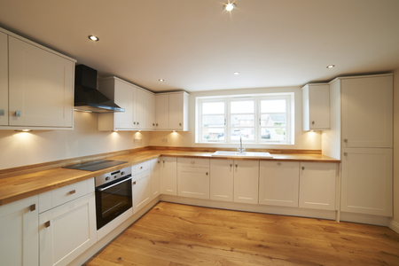 extractor hood: Beautiful Fitted Kitchen In Modern House