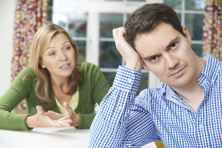 couple home: Couple Having Arguement At Home