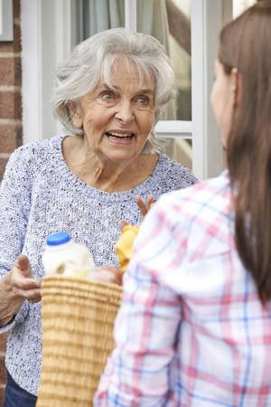 neighbour: Person Doing Shopping For Elderly Neighbour