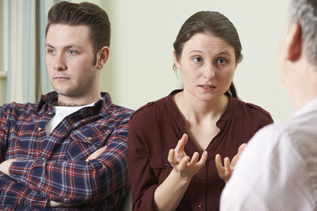 counsellor: Couple Discussing Problems With Relationship Counsellor