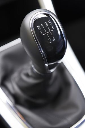 motor cars: Close Up Of Car Gear Shift Stock Photo
