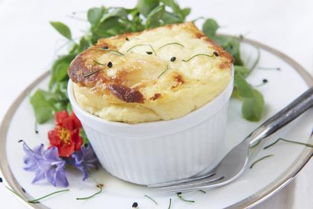 souffle: Cheese Souffle Served In Ramekin