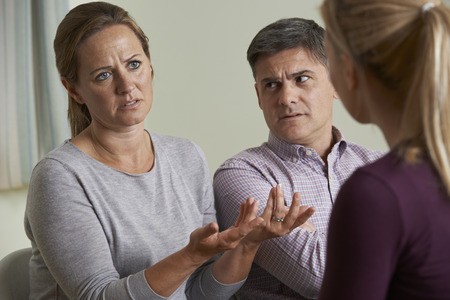 problem: Couple Discussing Problems With Relationship Counsellor
