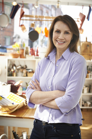 Owner Of Homeware Shop Standing In Store photo
