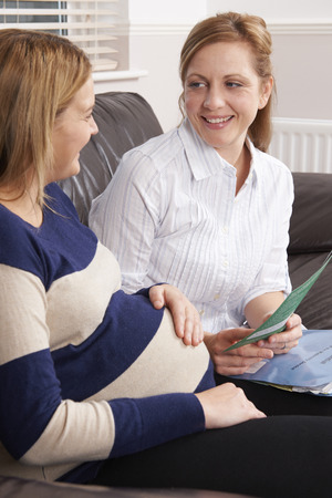 healthcare visitor: Midwife Making Home Visit To Expectant Mother