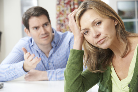 arguement: Couple Having Arguement At Home