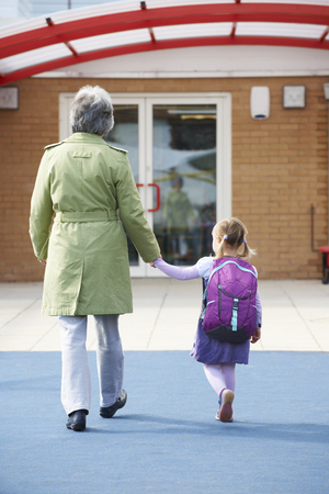 grandparents: Grandparent Taking Grandchild To School