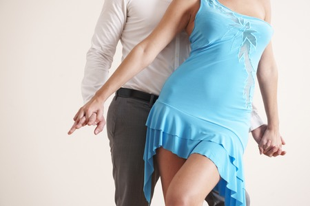 tangoing: Cropped Image Of Couple Dancing
