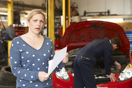 two car garage: Shocked Customer Looking At Garage Bill