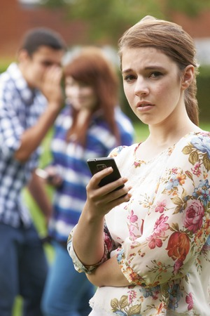 cyber girl: Teenage Girl Victim Of Bullying By Texts On Mobile Phone