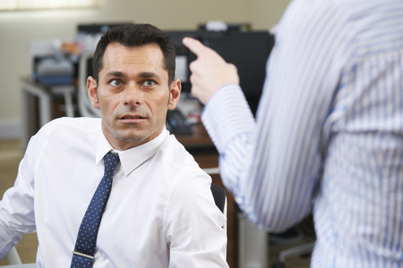 equal opportunity: Businessman Being Shouted At By Female Colleague