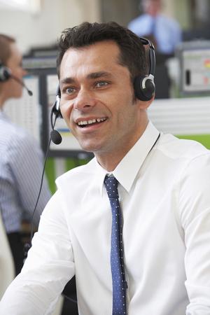 call center representative: Male Customer Service Agent In Call Centre