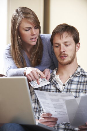 bad planning: Couple Arguing Over Home Finances
