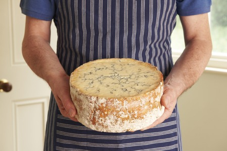 grocer: Grocer Holding Shropshire Blue Cheese