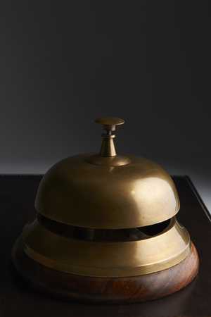 service bell: Close Up Of Service Bell On Dark Background