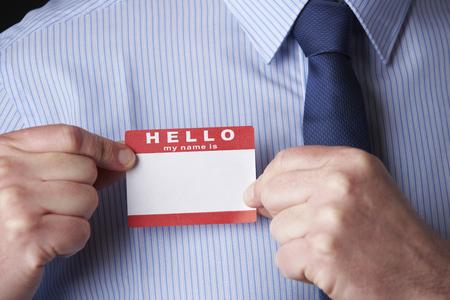 Fixation d'affaires Name Tag Lors de la conférence