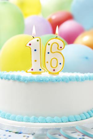 number 16: Cake Celebrating 16th Birthday