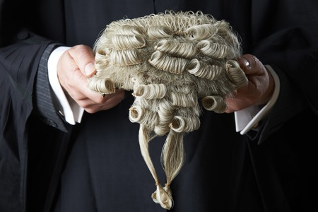 barrister: Barrister Holding Wig