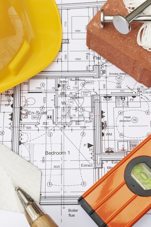 plumb: Building Components Arranged On House Plans